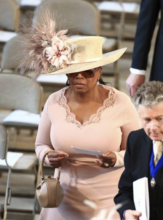 US talk show host Oprah Winfrey arrives inside St George