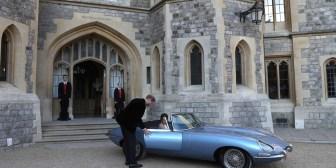 Boda real: el descomunal auto deportivo que usaron el príncipe Harry y Meghan Markle