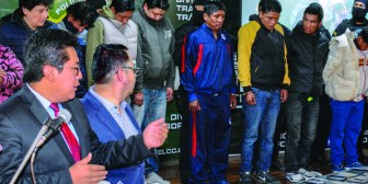 Hallan 400 celulares robados en un operativo en La Paz