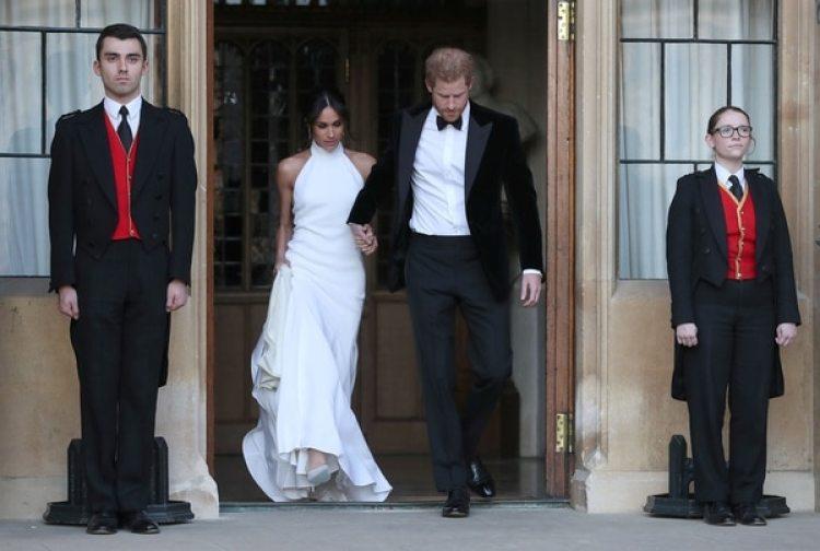 Los recién casados eligieron un look más descontracturado para la recepción