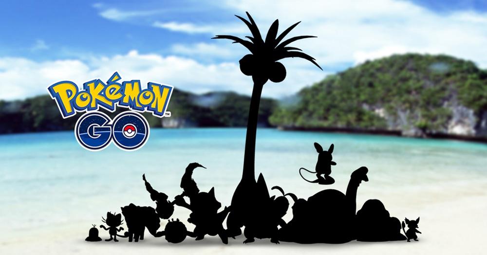 Nuevos Pokémon GO con formas Alola de la región Kanto