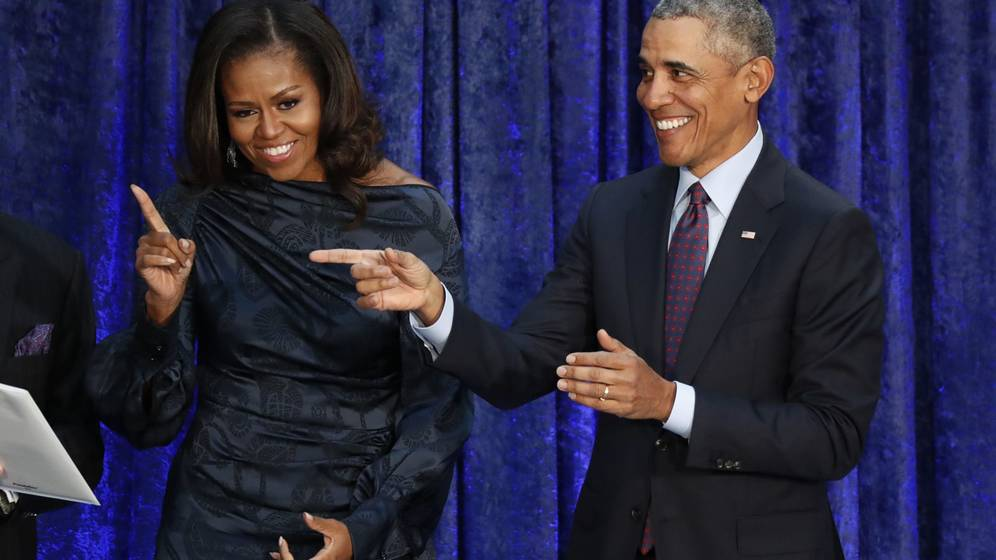 Foto: Michelle Obama y su marido Barack Obama. (Reuters)