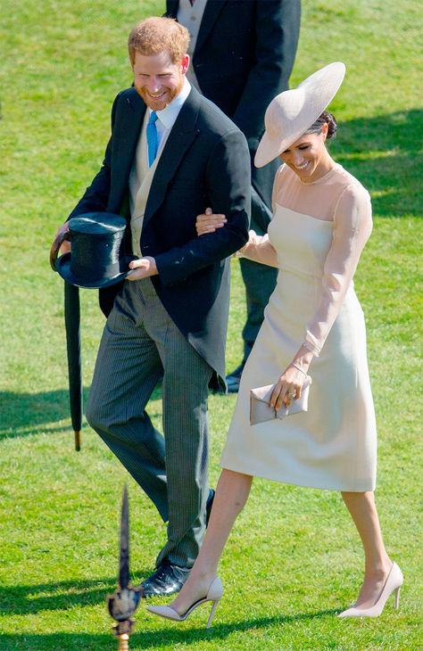 El Príncipe Harry y su esposa Meghan, duques de Sussex, asisten a la fiesta de cumpleaños del Príncipe de Gales en el Palacio de Buckingham en Londres.