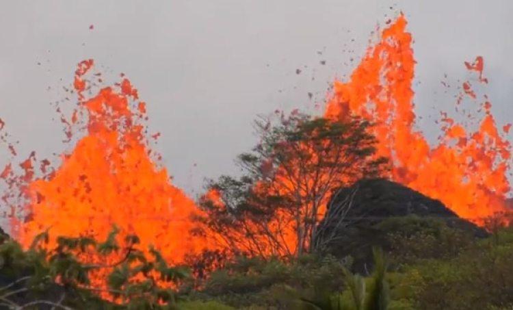 La lava traspasó una planta geotérmica