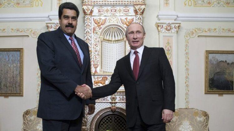 Nicolás Maduro junto a Vladimir Putin (EFE)