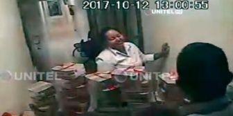 Videos revelan cómo operaban los funcionarios acusados del desfalco al Banco Unión