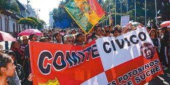 Cívicos saldrán a protestar en efeméride de Chuquisaca