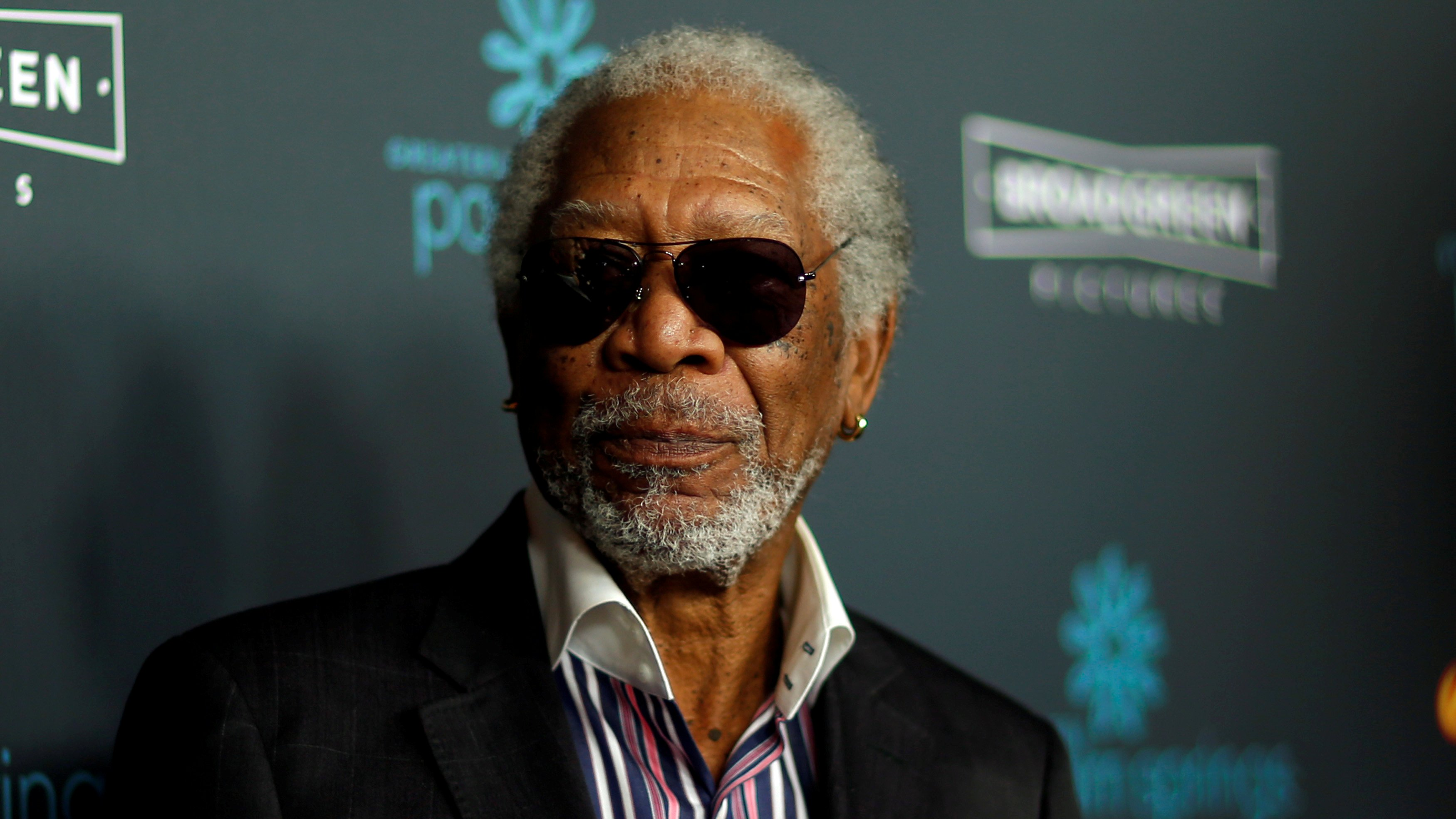 """FILE PHOTO: Cast member Morgan Freeman poses at the premiere for """"Just Getting Started"""" in Los Angeles, California, U.S., December 7, 2017. REUTERS/Mario Anzuoni/File Photo"""