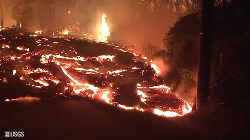 Impresionante; volcán Kilauea destruye su hogar y lo graba