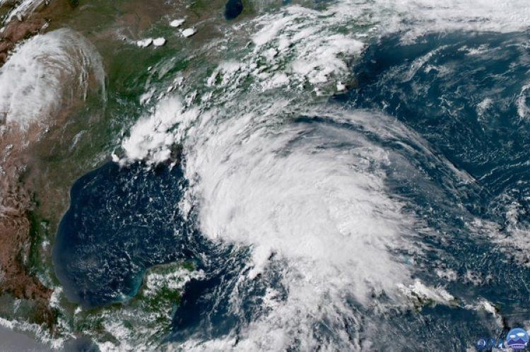 Imagen satelital del26 de mayo (NOAA via AP)