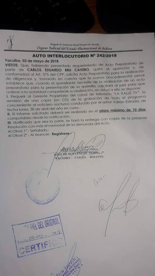 Viceministro Brú prepara juicio contra un periodista por informar sobre caso de sobreprecio