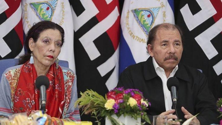 Daniel Ortega y su esposa, la vicepresidente Rosario Murillo (Crédito: Jairo Cajina)