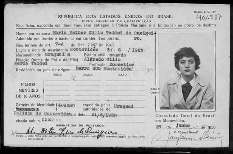 Visa brasilera de la periodista