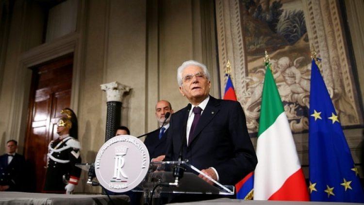 El presidente italianoSergio Mattarella ofrece una conferencia de prensa en Roma (Reuters)