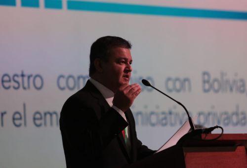 El encuentro se desarrolla en Fexpocruz. Foto: Jorge Gutiérrez