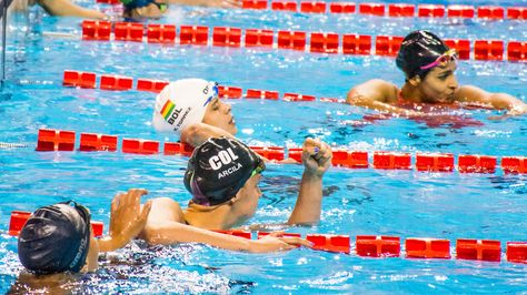 La nadadora Karen Tórrez. Foto: cochabamba2018.bo