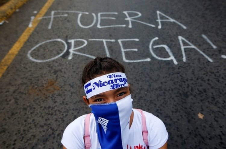 Los manifestantes piden la renuncia de Ortega(REUTERS/Oswaldo Rivas)
