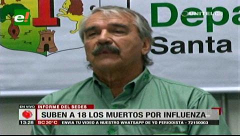 Suben a 18 las muertes por influenza en Santa Cruz y se declara emergencia departamental