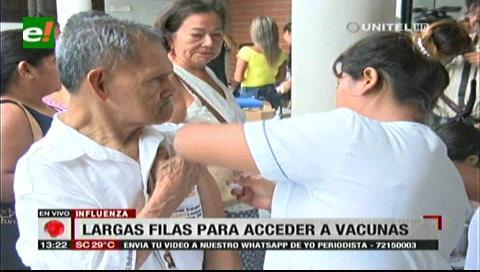 Santa Cruz: Largas filas para obtener vacuna contra la influenza