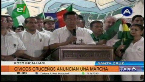 Cívicos cruceños dan plazo hasta el 24 de mayo para que desembolsen regalías de Incahuasi