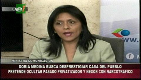 Ministra López descalifica las críticas de Doria Medina sobre la construcción de la Casa del Pueblo