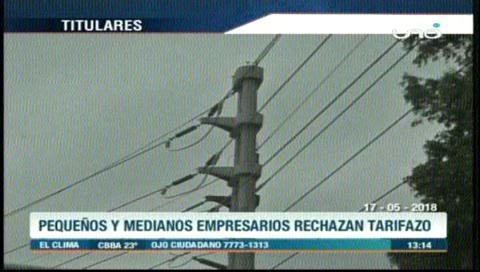 Video titulares de noticias de TV – Bolivia, mediodía del jueves 17 de mayo de 2018