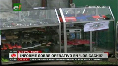 Felcc secuestra objetos de dudosa procedencia que eran vendidos en 'Los Cachivachis'