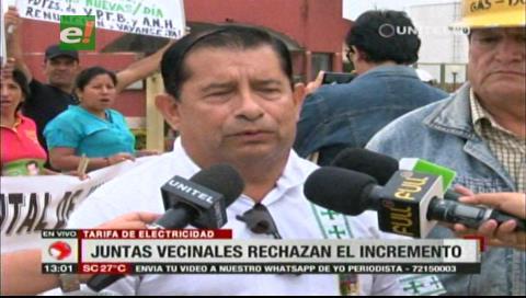 Santa Cruz: Fejuve anuncia bloqueos y marchas en rechazo al alza en tarifa de electricidad