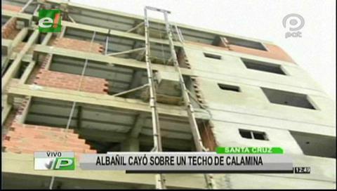 Albañil cayó del quinto piso de un edificio