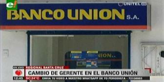Santa Cruz: Nuevo gerente del Banco Unión anuncia medidas de seguridad en las bóvedas