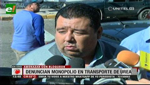 Denuncian monopolio en el transporte de la urea