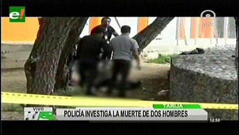 Policía investiga la muerte de dos hombres en Tarija