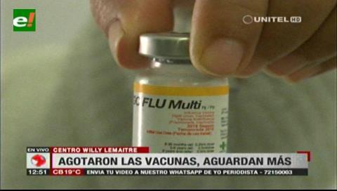 Centros médicos cruceños aguardan la llegada de nuevas dosis para vacunas de influenza