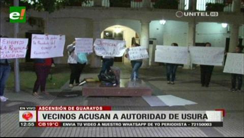 Grupo de vecinos de Ascensión de Guarayos acusan a la presidenta del Concejo Municipal de usura