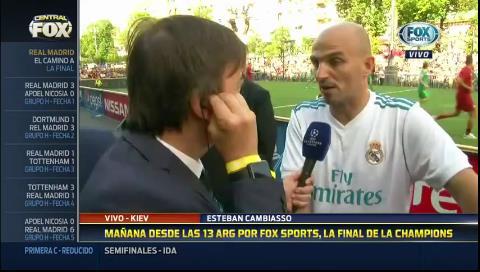 Esteban Cambiasso: «A veces a Zidane lo maltratan»