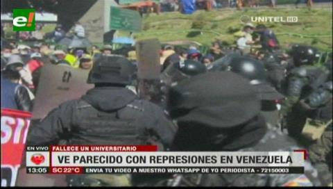 Oposición dice que represión en la UPEA fue como en Venezuela