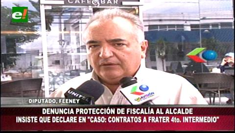 Diputado Feeney denuncia supuesta protección de la Fiscalía cruceña a Percy Fernández