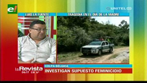 Fiscalía de Montero investiga presunto caso de feminicidio en Colpa Bélgica