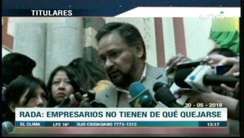 Video titulares de noticias de TV – Bolivia, mediodía del miércoles 30 de mayo de 2018