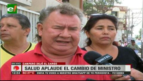 Salubristas y la Fesirmes aplauden cambio del ministro de Salud