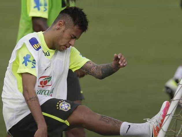 ¡Neymar fue separado del entrenamiento de la