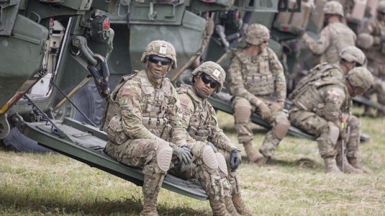 """Los ejercicios """"Saber Strike"""" tienen lugar en un momento de fuertes tensiones con Rusia (AFP)"""