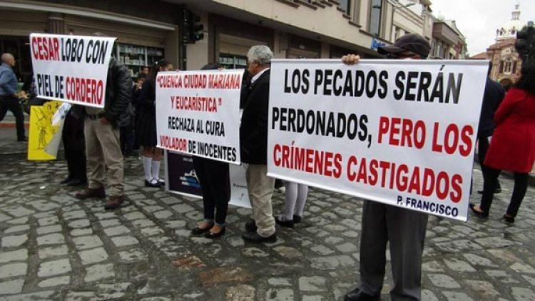 La semana pasada hubo protestas en Cuenca contra César Cordero Moscoso