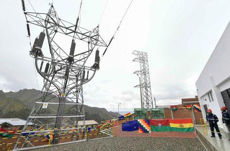 Una subestación de generación de energía eléctrica.
