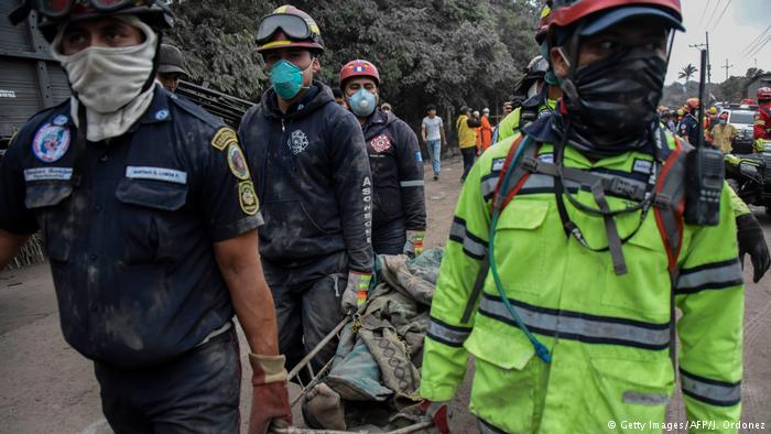 La erupción del Volcán de Fuego, en Guatemala, dejó numerosos muertos. (3.06.2018).