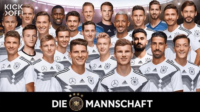 La selección alemana a la Copa FIFA Moscú 2018
