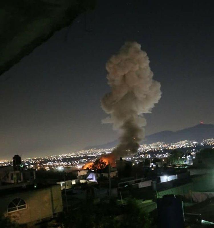 Además de siete muertos, ocho personas resultaron heridas en una explosión de un almacén de pirotecnia en México