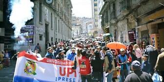 La UPEA está desgastada, pide solución definitiva al Gobierno, no quieren ya marchar