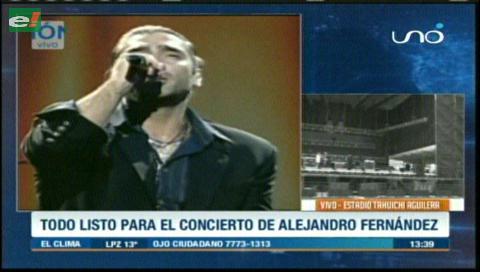 Todo listo para el gran concierto de Alejandro Fernández