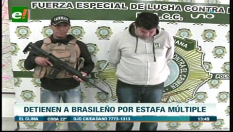 Detienen a brasileño por estafa agravada
